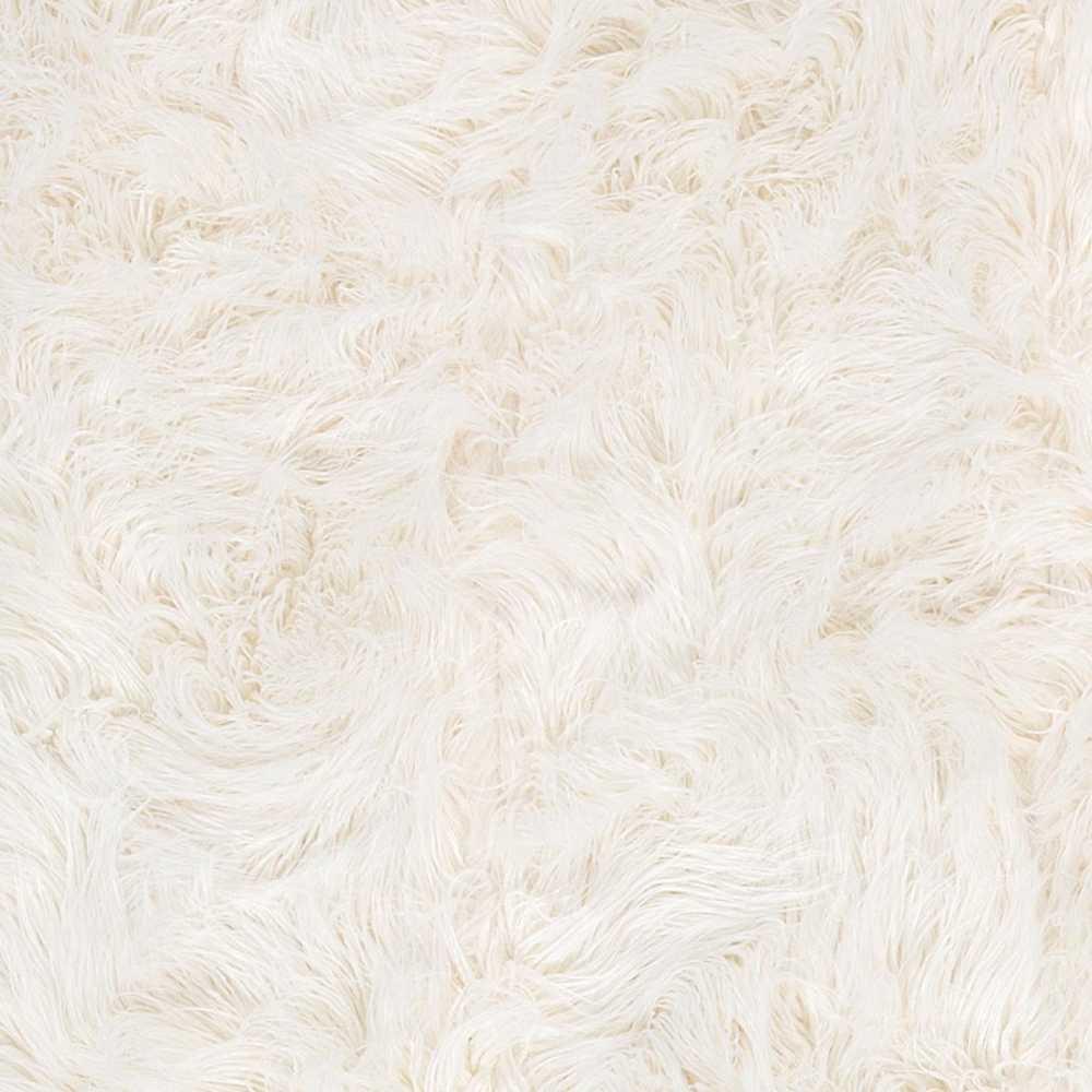 tapis de luxe shaggy blanc casse en fausse fourrure par ligne pure