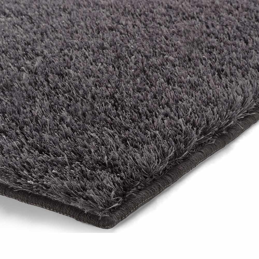 tapis de salle de bain de luxe gris anthracite