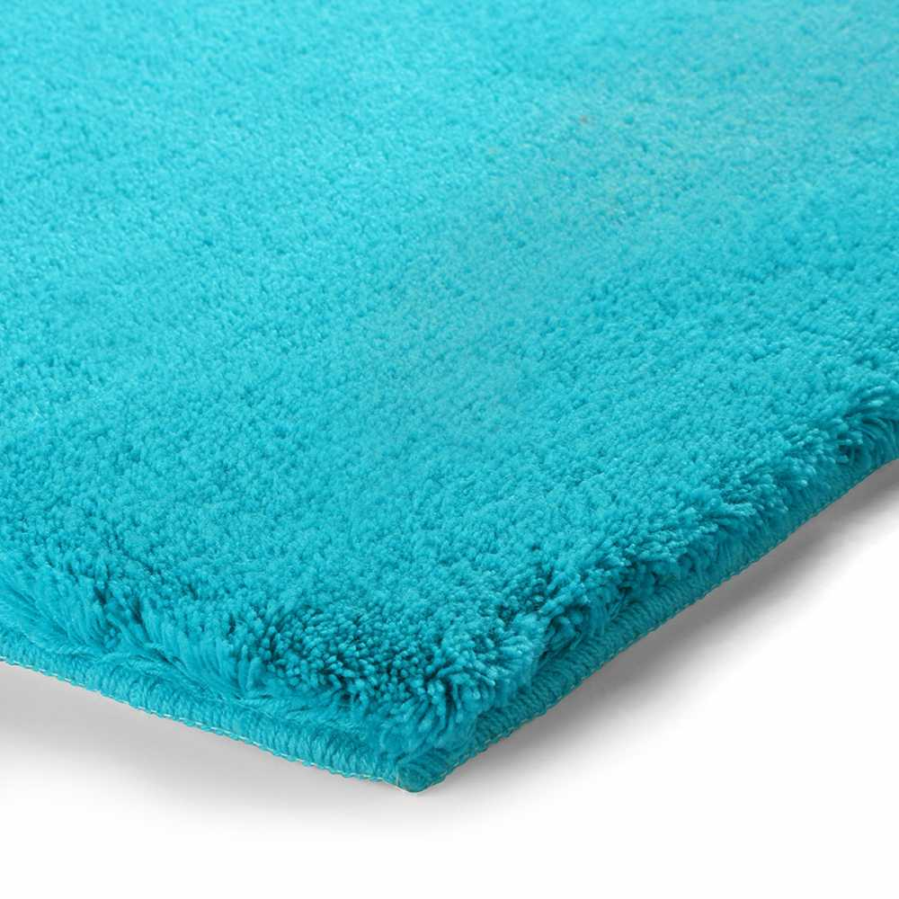 tapis de salle de bain de prestige turquoise