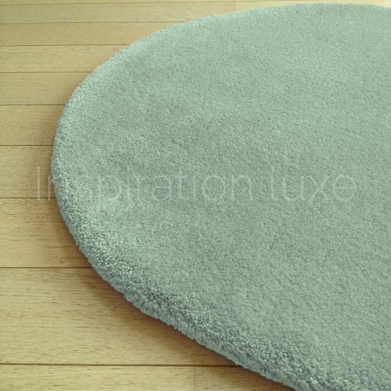 tapis rond sur mesure rond vert moelleux par inspiration luxe