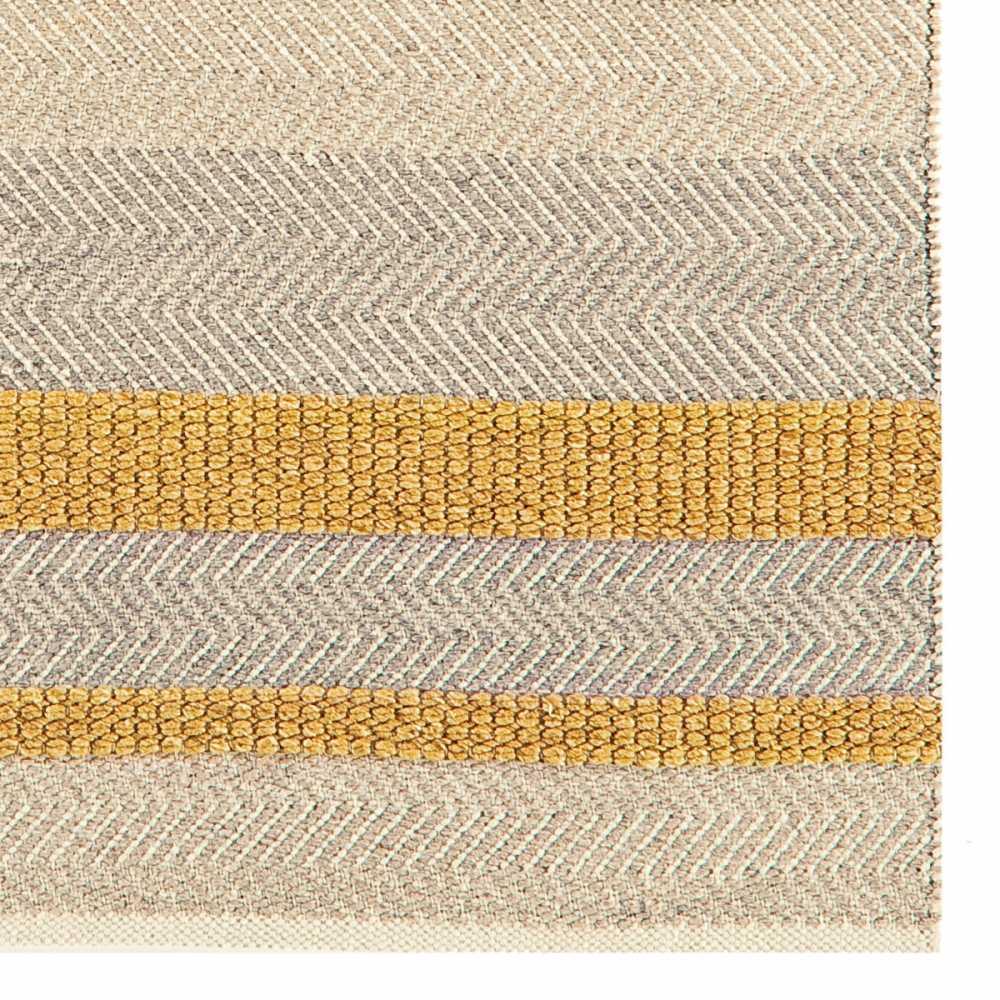 tapis contemporain jaune gris beige en laine coton et viscose