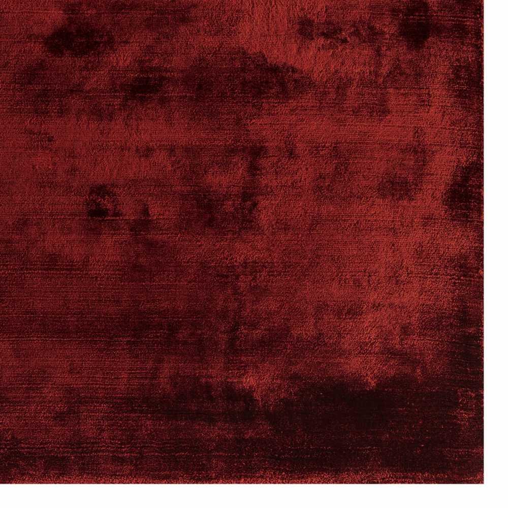 tapis design de salon rouge douceur en viscose