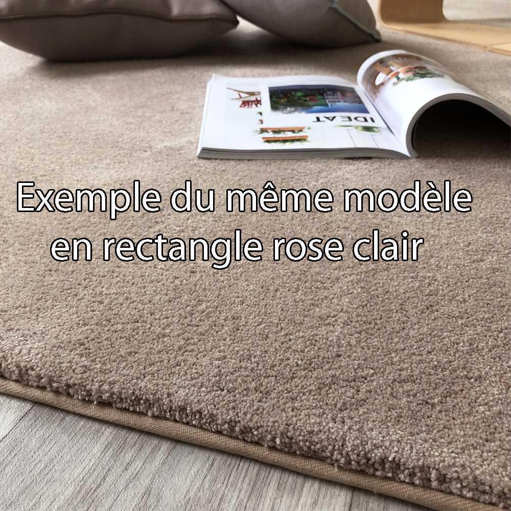 tapis rond sur mesure gris souris doux et moelleux par inspiration luxe editions