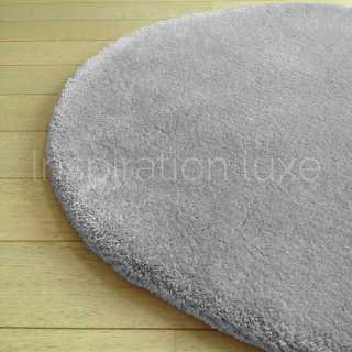 tapis rond rond gris clair moelleux