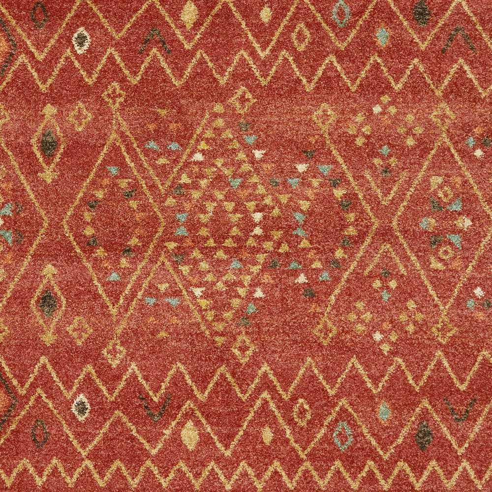 tapis de luxe rouge orange a motifs tisse a la machine traditionnelle par joseph lebon