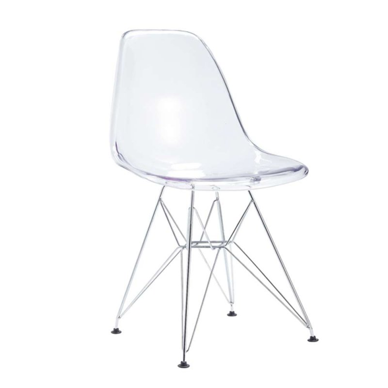 lot de 4 chaises transparente design en polycarbonate inspiration luxe
