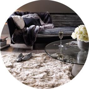 tapis shaggy epais et moelleux un