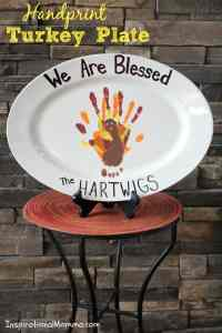 Handprint Turkey Plate