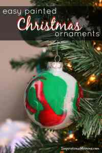 Easy Painted Christmas Ornaments