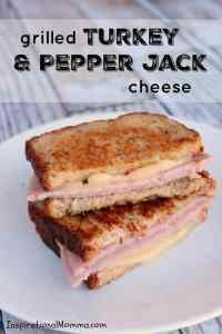 Grilled Turkey and Pepper Jack Cheese