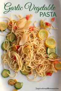 Garlic Vegetable Pasta