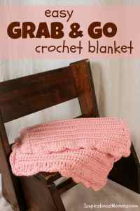 Easy Grab & Go Crochet Blanket