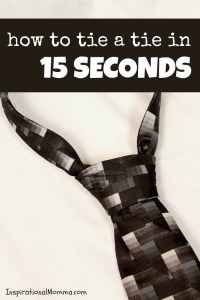 How to Tie a Tie in 15 Seconds