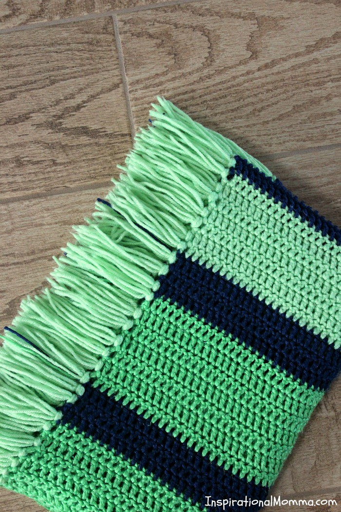 Double Crochet Striped Blanket