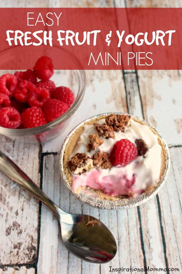 Sweet, simple, and delicious, these Easy Fresh Fruit & Yogurt Mini Pies are packed with flavor and are sure to satisfied everyone's sweet tooth!