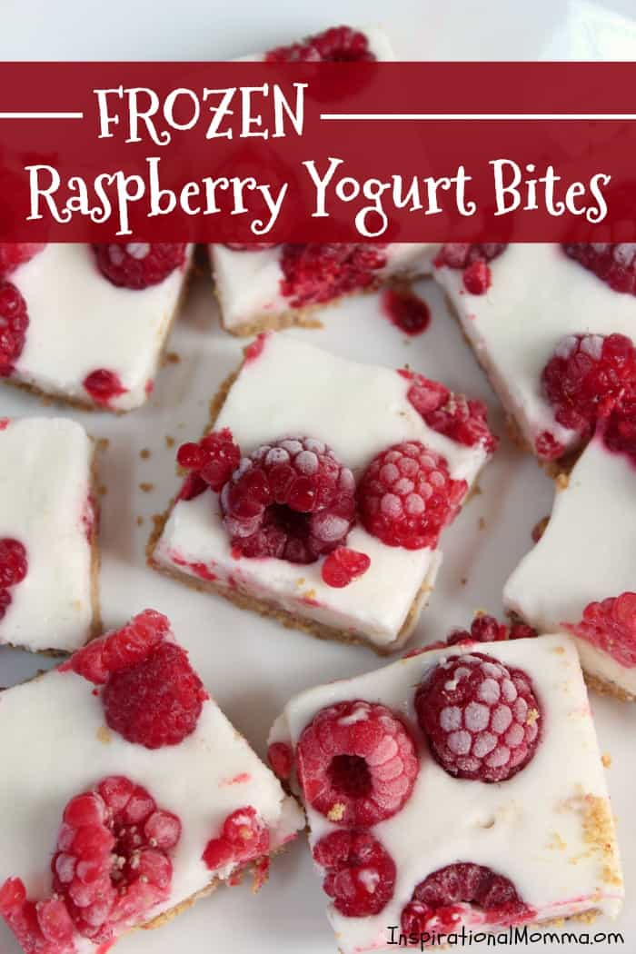 Frozen Raspberry Yogurt Bites are a cool, sweet treat that are easy to make and absolutely delicious! Made with 5 healthy ingredients, it will quickly become a favorite!