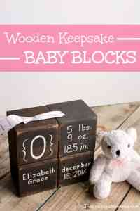 Wooden Keepsake Baby Blocks