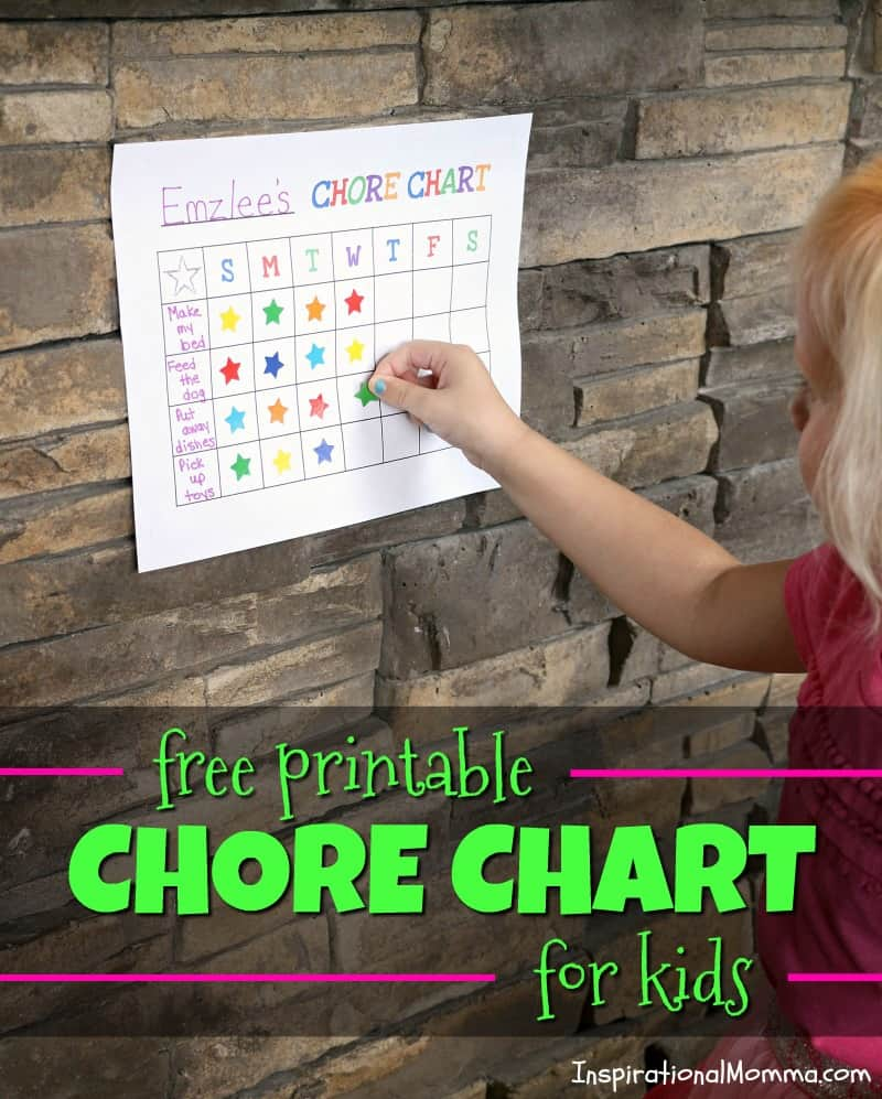 free printable chore chart for kids motivate your child with this easy tool and always
