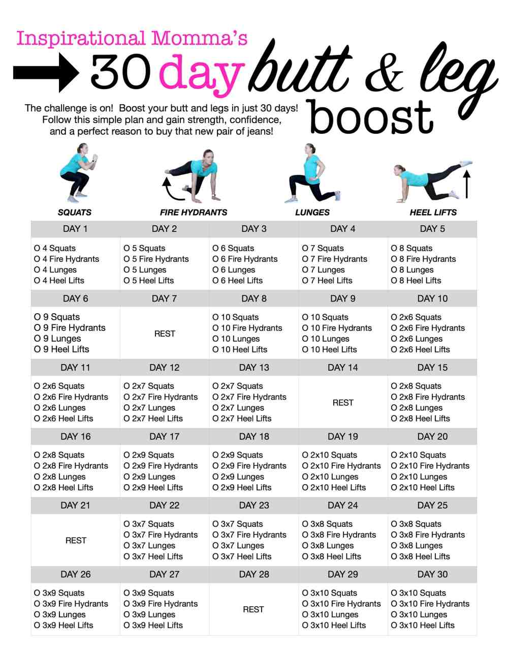 Modest image with regard to 30 day challenge printable