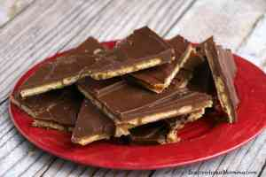 Ritz Cracker Caramel Chocolate Toffee