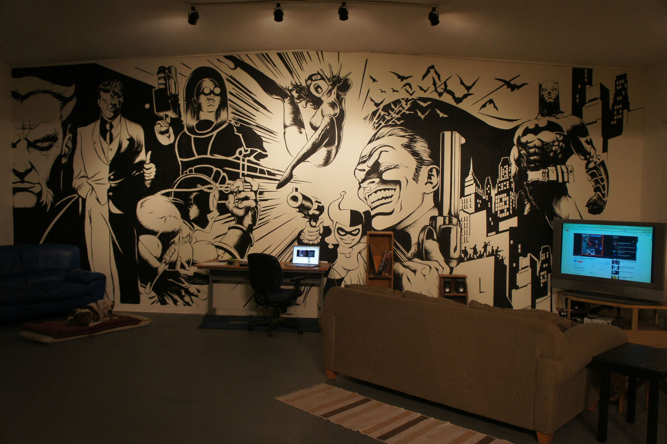 Batman Wall Mural Art On Inspirationde