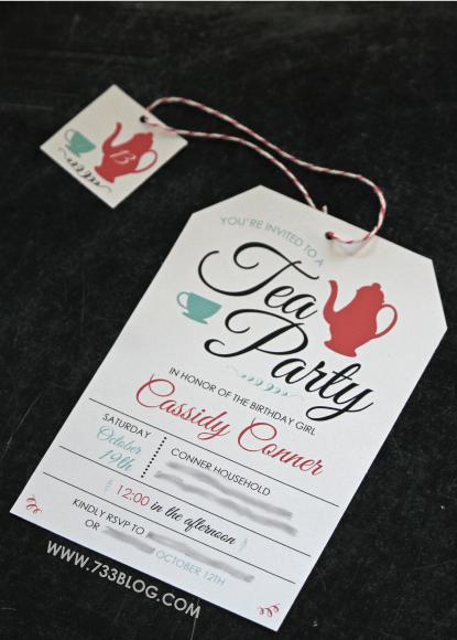 free printable tea party birthday