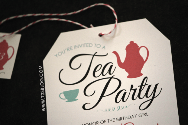 free printable tea party birthday