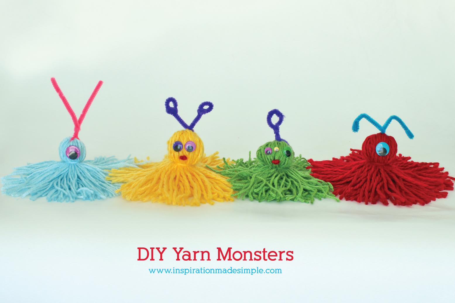 Diy Yarn Monsters