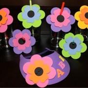Foam Flower Straws & Visor