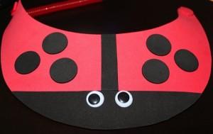 Add Wiggle Eyes to Lady Bug VIsor