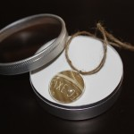 Gem Necklace in Tin Container with Clear Lid