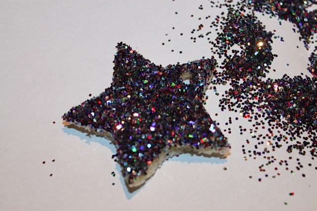Glitter on top of Bread Ornament