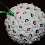 Marshmallow Ornament with Sequins
