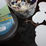 Buttons, Glue Dots, White Foam Circles, Adhesive Magnet Roll