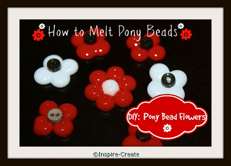 How to Melt Pony Beads into Flowers! It's so easy.