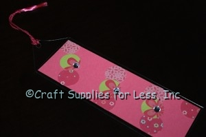 Pink Insert with Pink Paper Circles, Sleeve, and Tassels