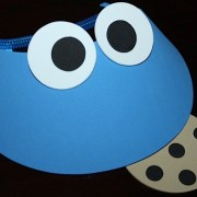 Blue Visor with Cookie attached