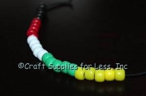 Salvation Bracelet add yellow pony beads