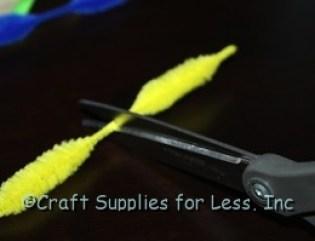 cut bumpy chenille stems to make fish
