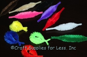 bend chenille to make fish