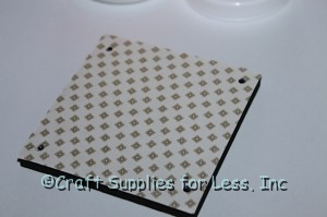 foam square with holes in corner