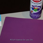 craft foam spray painted