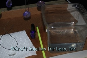 Supplies Needed for making nail polish dipped gems