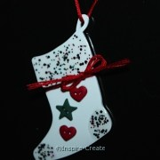 Shrink Art Stocking Ornament