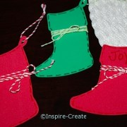 red and greens stocking ornaments