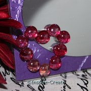 red heart made from mini glass gems