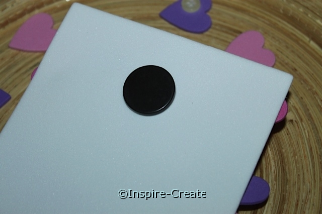 "attach 3/4"" ceramic magnet to back of foam"