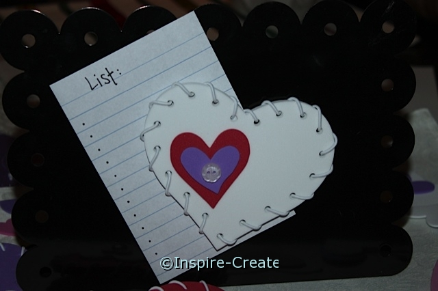 Lacing Heart Magnet Craft