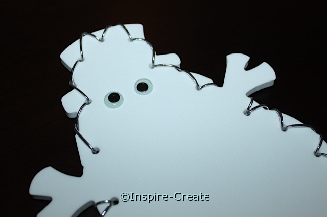 Add Wiggle Eyes to Snowman Craft