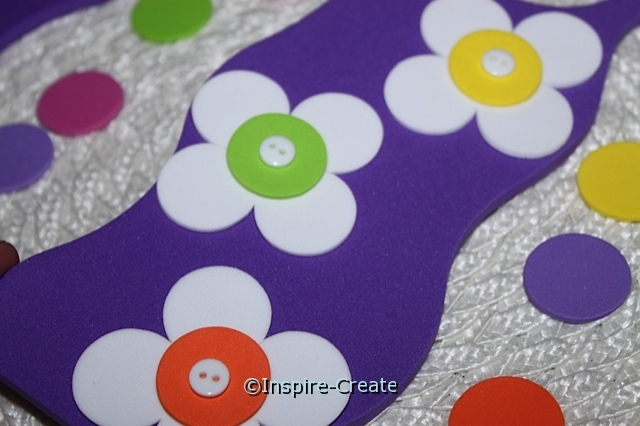 add buttons to foam door hanger